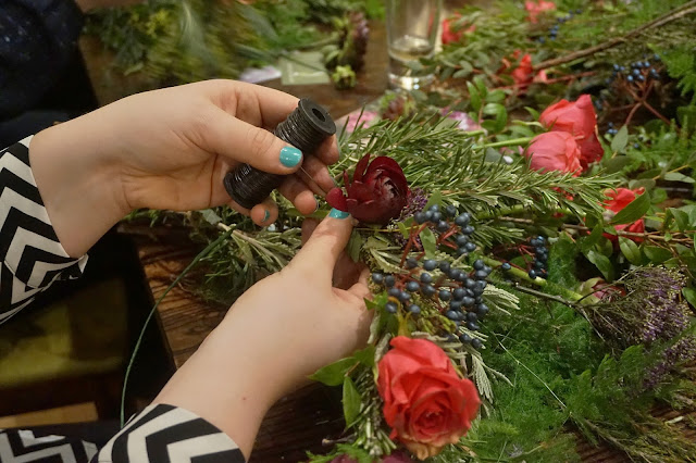 Dine Events Leeds Flower crown making