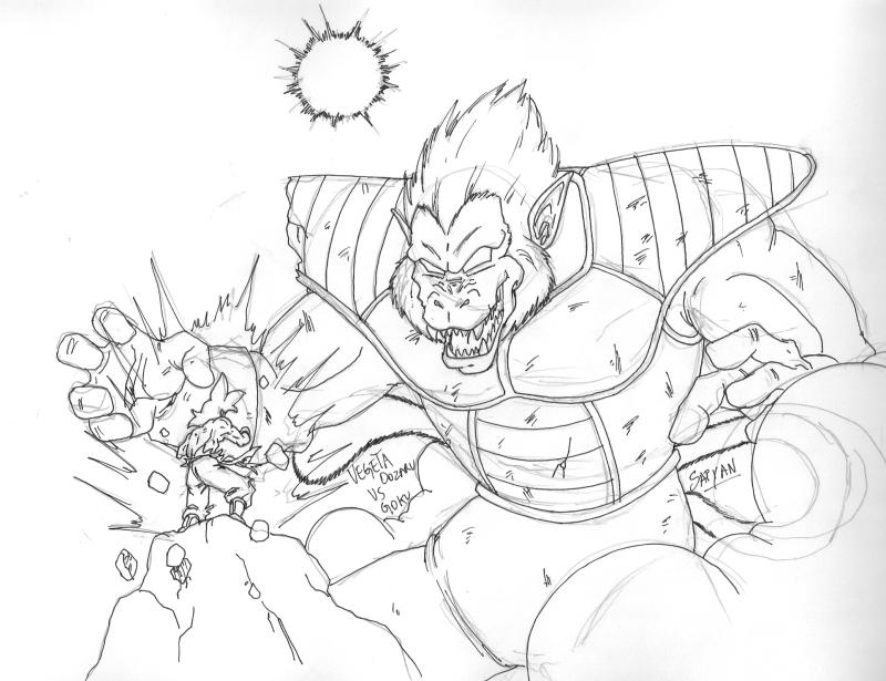 Dragon Ball: El Retorno De Los Enemigos: Goku Vs Vegeta Oozaru