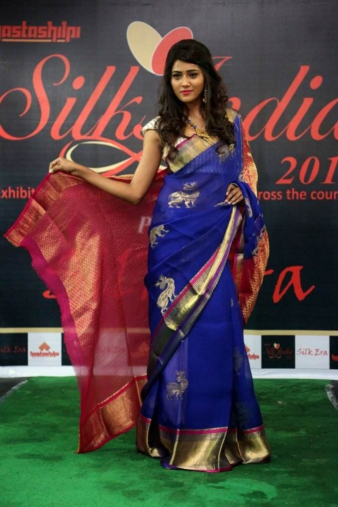 Glamorous Hyderabad Girl Shalu Chourasiya In Transparent Blue Sari