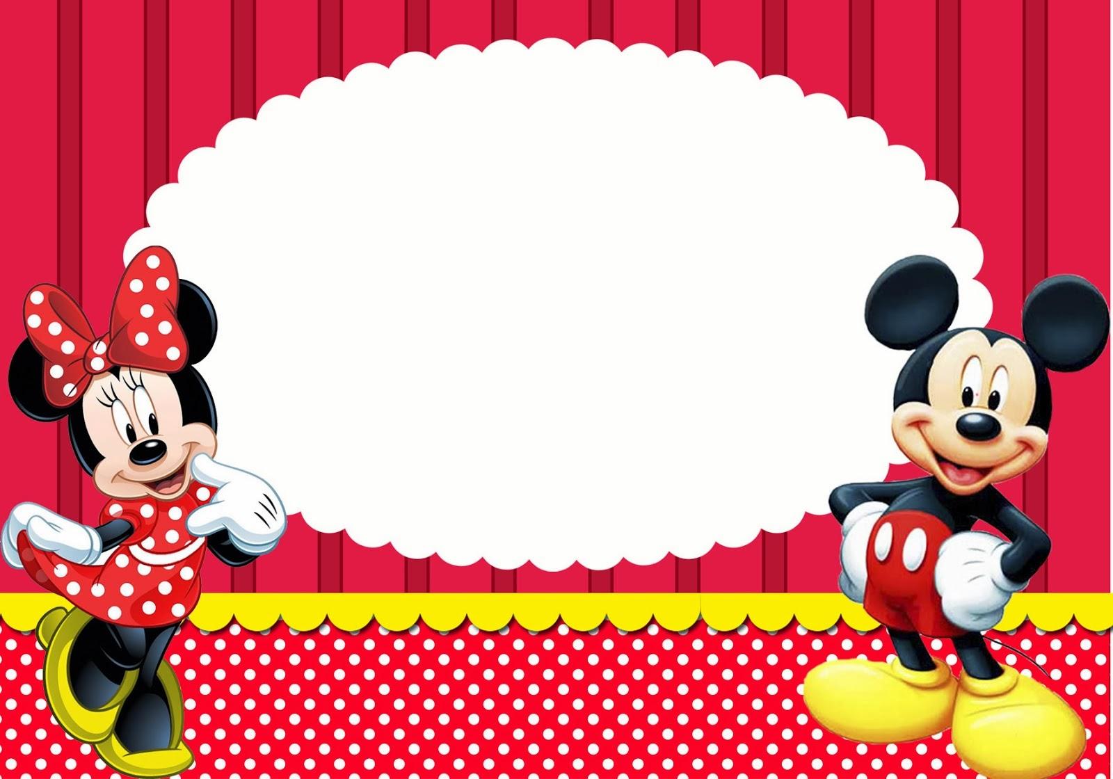 Minnie Y Mickey Imprimibles Invitaciones Y Tarjetas Gratis