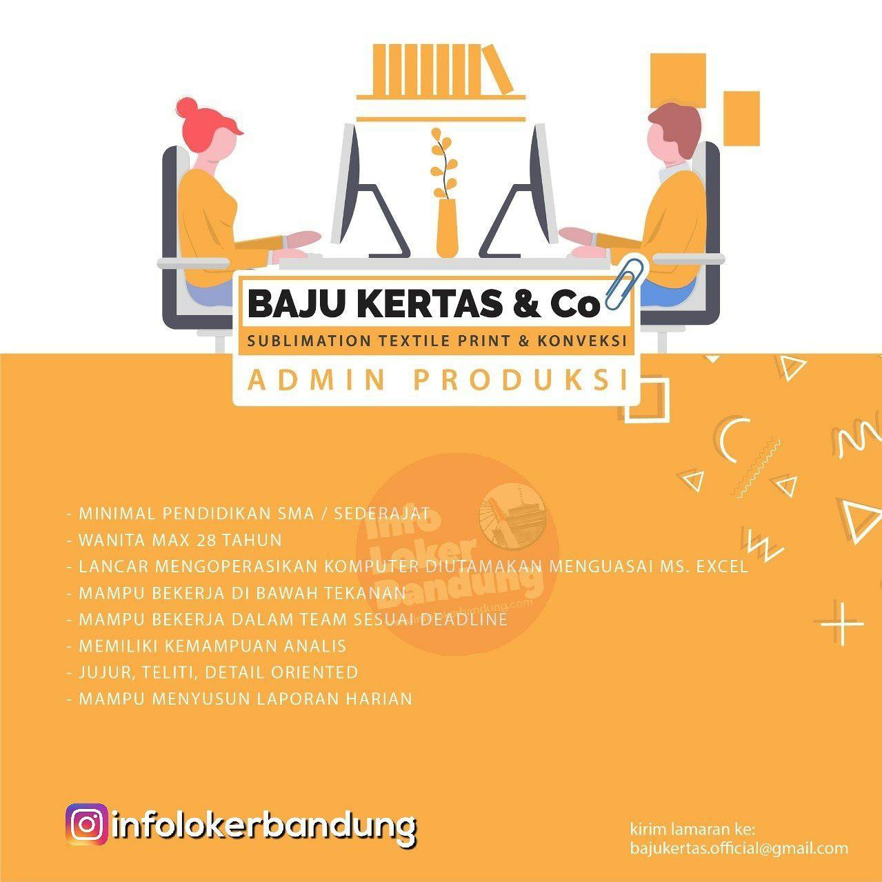Lowongan Kerja Baju Kertas & Co Bandung Februari 2019