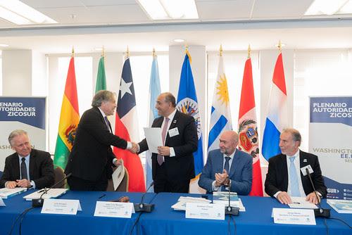 FOTONOTICIA: OEA y ZICOSUR trabajarán juntos para mejorar la competitividad y el fortalecimiento institucional