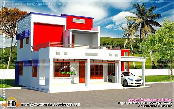 Colorful modern villa
