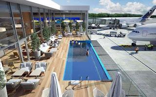Piscina infinita en el aeropuerto de Punta Cana. La piscina infinita de Punta Cana,  va a ser unos de los salones de aeropuertos VIP más famosos del mundo.
