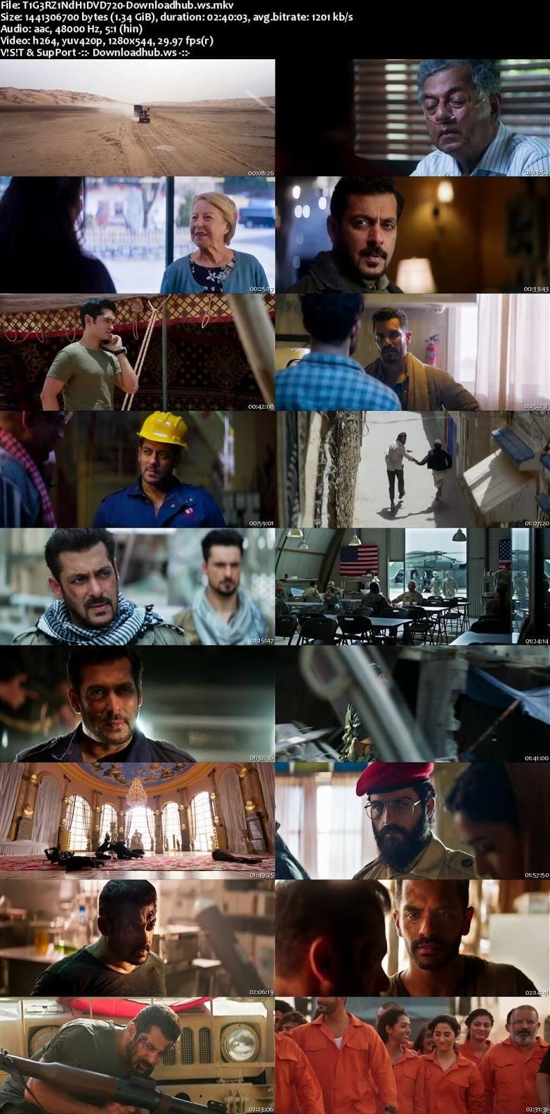 Tiger Zinda Hai 2017 Hindi 720p DVDRip ESubs