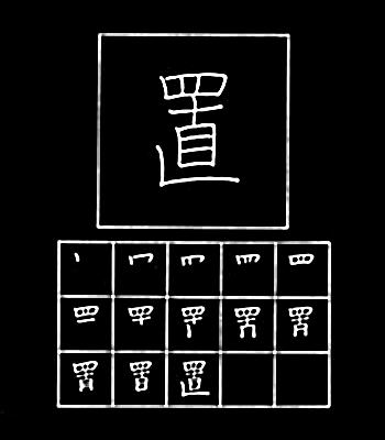 kanji meletakkan