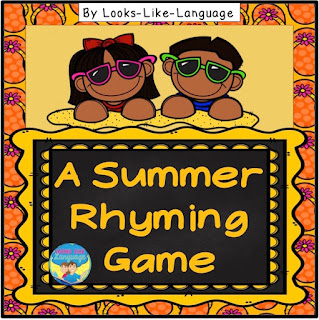Get the FREE Summer Rhyming Game from Looks Like Language!