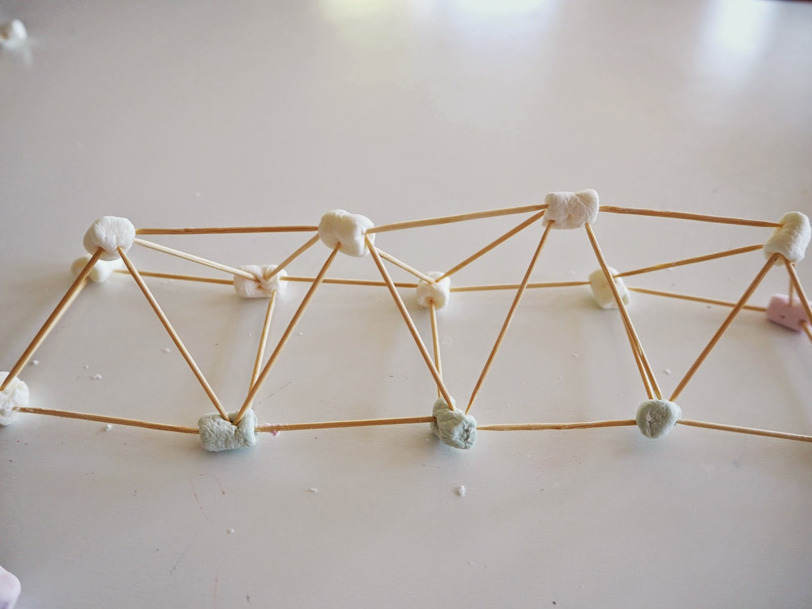 image about Building With Toothpicks and Marshmallows Printable referred to as Master with Perform at Household: Mini-marshmallow and toothpick