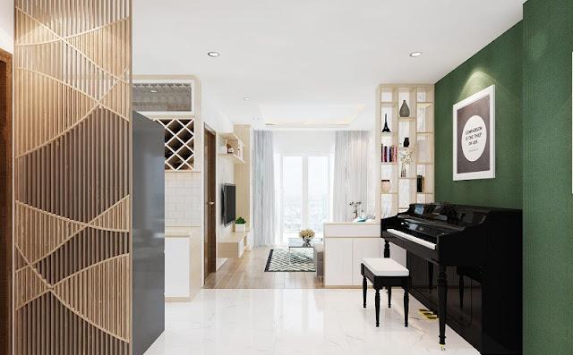 Mẫu thiết kế nội thất chung cư 67m2 sang trọng, tiện nghi - H2