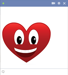 Smiling heart Facebook sticker