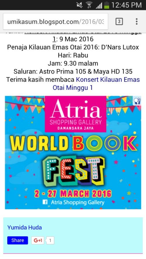 Kempen iklan Nuffnang: Atria Book Fest Banners 2016
