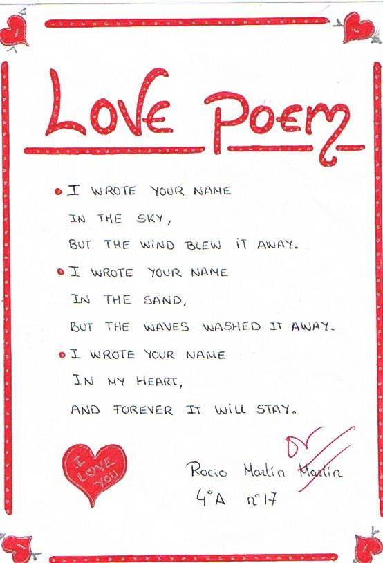 How to right a love poem