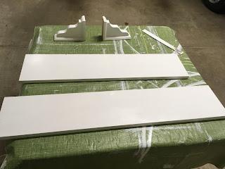 Wood Pieces for Bathroom Shelf