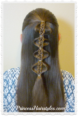Palm tree bubble braid tutorial.