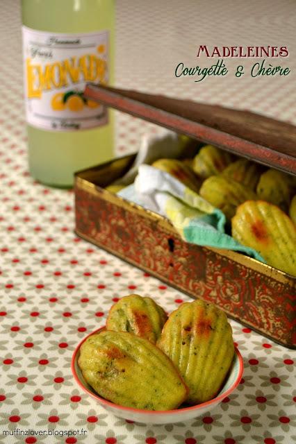 Recette madeleines courgette et chèvre - muffinzlover.blogspot.fr