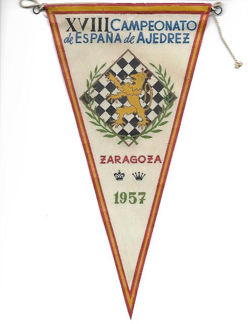 Banderín del XVIII Campeonato de España de Ajedrez