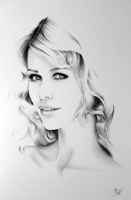 01-Claudia-Schiffer-Ileana-Hunter-Celebrity-Black-and-White-Stylish-Drawing-Portraits-www-designstack-co