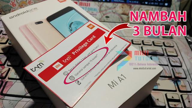Mau Masa Garansi Xiaomi Mi A1 Kamu Bertambah 3 Bulan Menjadi 15 Bulan? Ini Cara Mudahnya