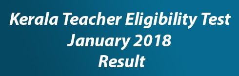 KTET January 2018 Result