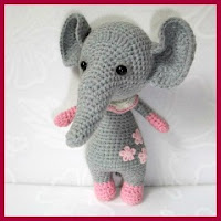 Bebé elefante amigurumi