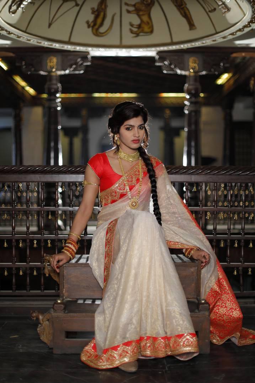 Sai              Dhansika Long Hair Photos In White Saree