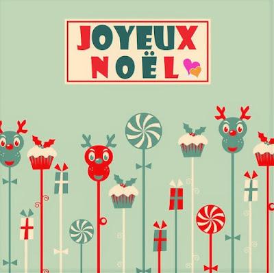 Belle carte de vœux pour la fête de noël