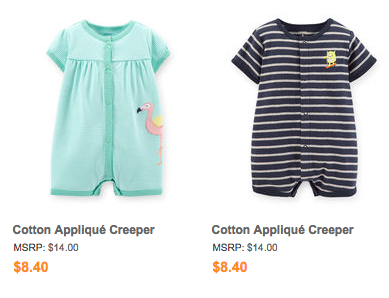 """Stick to what I lovingly call """"snap-happy"""" clothes. Carters always has a  line that they call """"creepers"""", they are the uniform of our OI babies."""