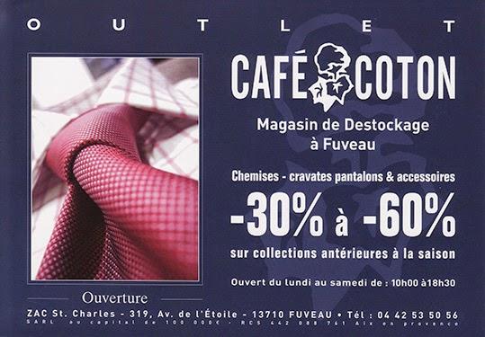 le magasin d usine caf coton fuveau les magasins d 39 usine en france. Black Bedroom Furniture Sets. Home Design Ideas