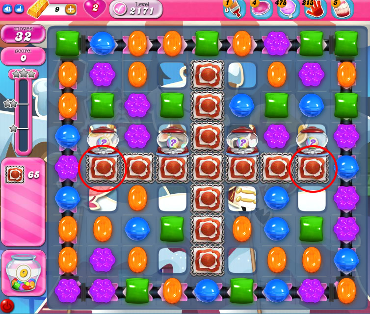 Candy Crush Saga level 2171