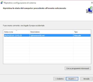 Come ripristinare Windows 10: come tornare a punto di ripristino precedente