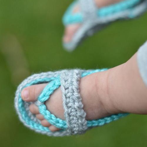 Crochet Baby Strap Flip Flop Sandals - Free Pattern