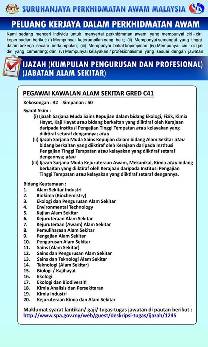 jawatan gred 41 kerja kerajaan
