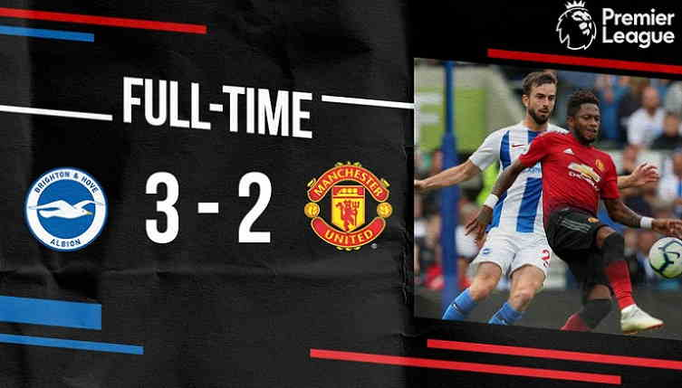 Hasil Brighton vs Manchester United Skor Akhir 3-2 [ Premier League 2018 ]