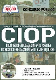 Apostila CIOP Presidente Prudente,Professor de Educação Infantil