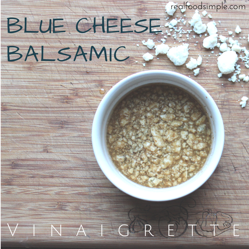 blue cheese balsamic vinaigrette | 2 ways This is a simple recipe with only 4 pantry ingredients and can be made in five minutes. It can be made both creamy and non-creamy. | realfoodsimple.com
