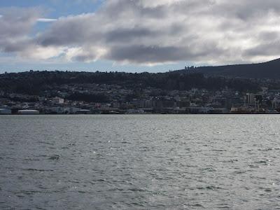 Dunedin desde la Península de Otago, en Nueva Zelanda