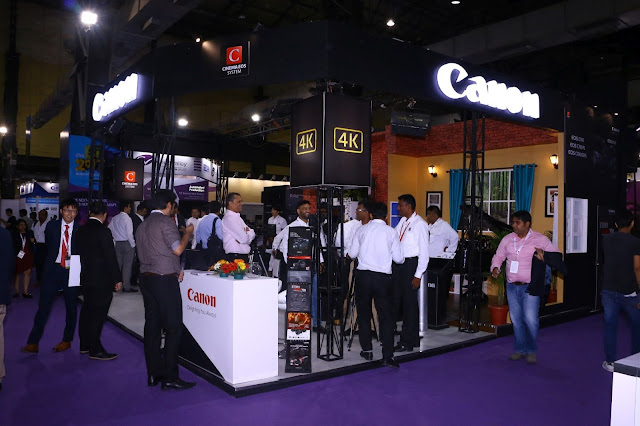 Canon India at the Braodcast India Show 2017