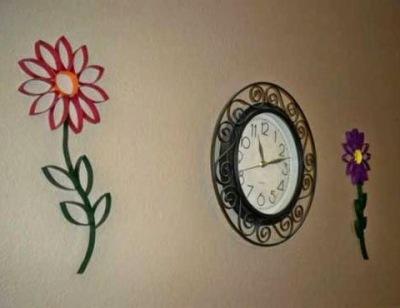 Bingkai jam dan hiasan dinding dari kertas bekas tisu roll
