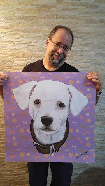 Seu cãozinho em uma arte para decorar sua casa.