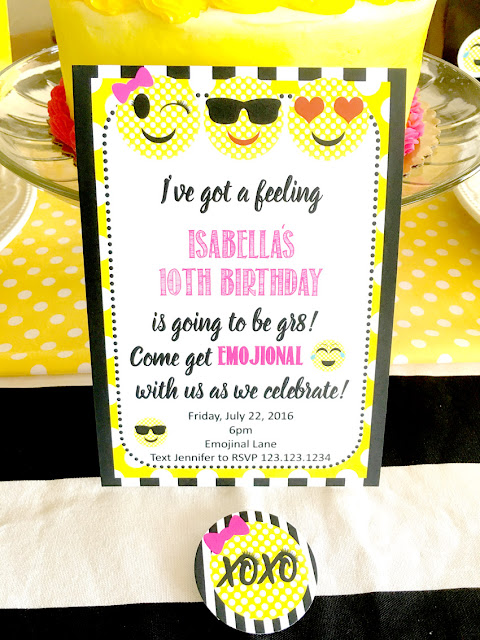 Emoji Themed Birthday Party Invitation via Pretty My Party