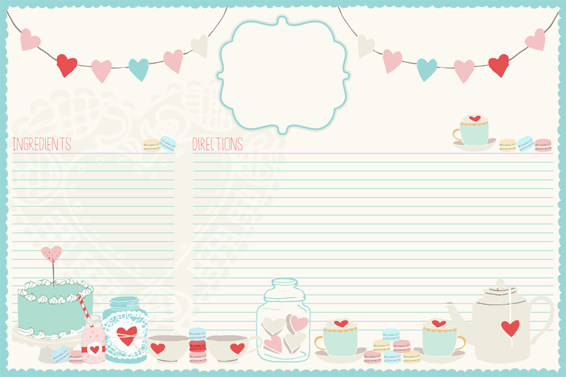 Graphic of the Day Adorable Recipe Card - The Cottage Market