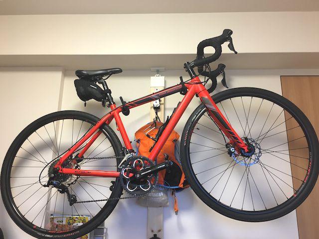 大阪北部地震に耐えたロードバイク保管方法