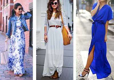 Vestidos compridos em mulheres baixas