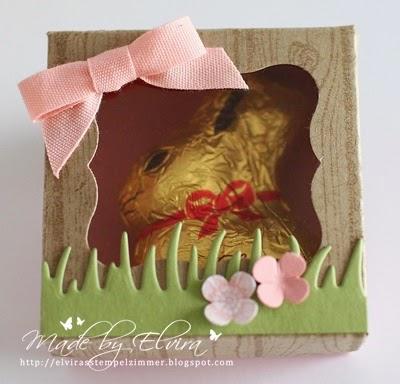 Kleine Hasen in der Box - Verpackung für Mini Osterhasen mit Produkten von Stampin Up Österreich