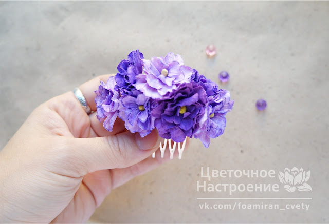 серединка для цветов из зефирного фоамирана
