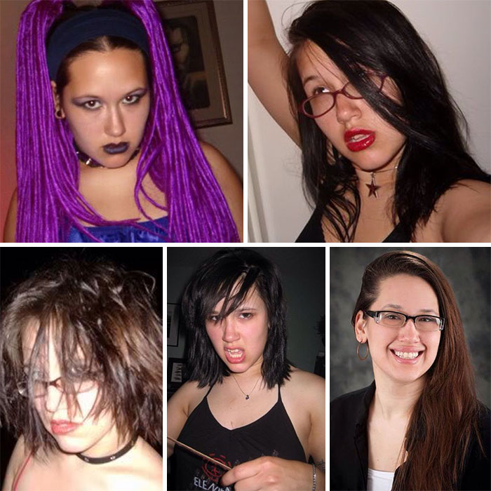 #8 Emo. Goth. Emo. Emo. Marketing Consultant  - 10 Before & After Pics Of Rebellious Teenagers