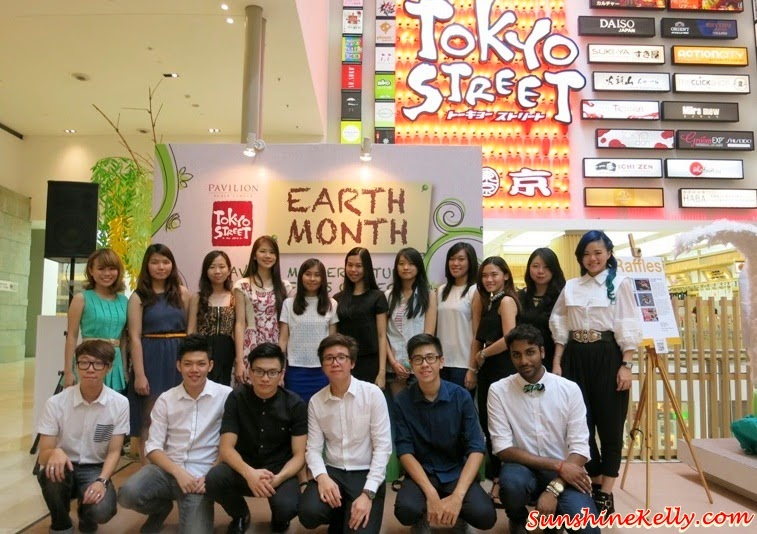 Tokyo Street Earth Month, raffles college, Mother Nature, Art exhibition, pavilion kl, recycle material, recycle art
