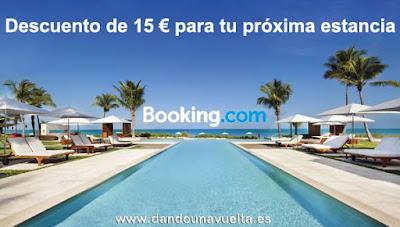 Cupón de decuento de 15 € para Booking.com