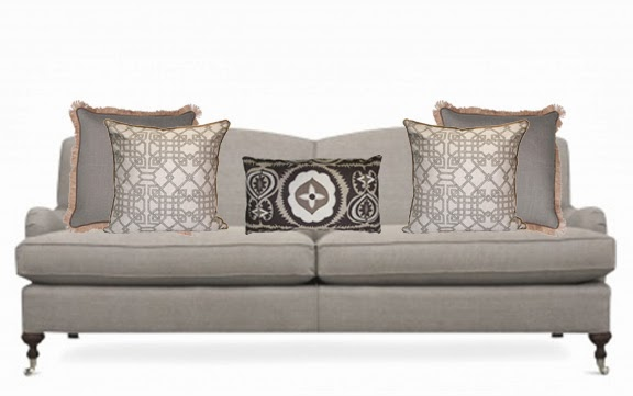 Inspired Design In The Mix How To Arrange Sofa Pillows