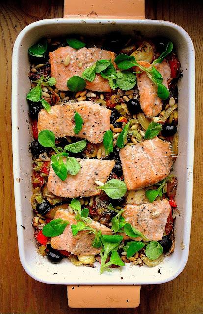Pstrąg po sycylijsku / Sicilian-Style Baked Trout